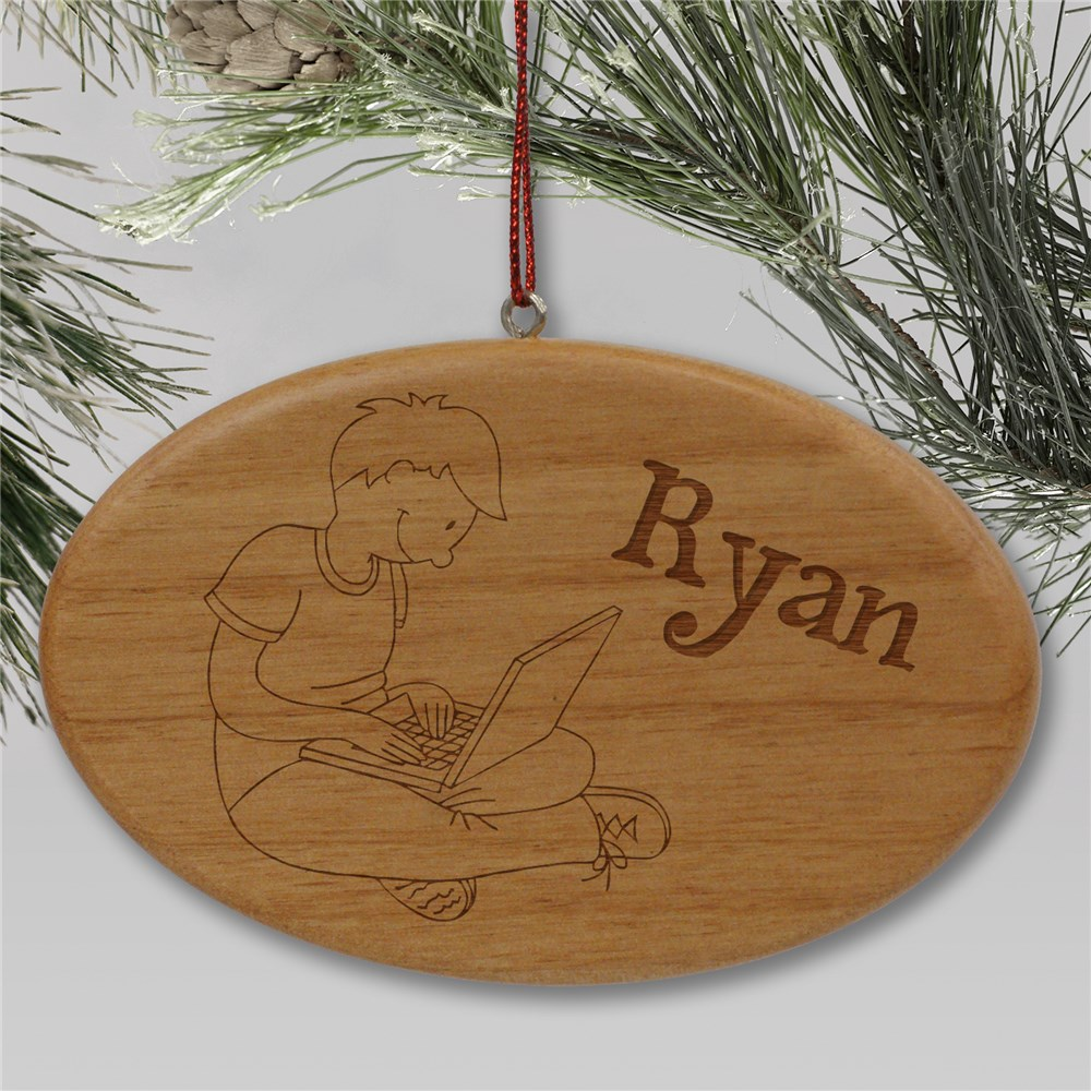 Laptop Ornament | Wood | Kids Christmas Ornaments