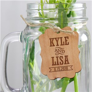 Engraved Wood Favor Tags | Personalized Wedding Favors