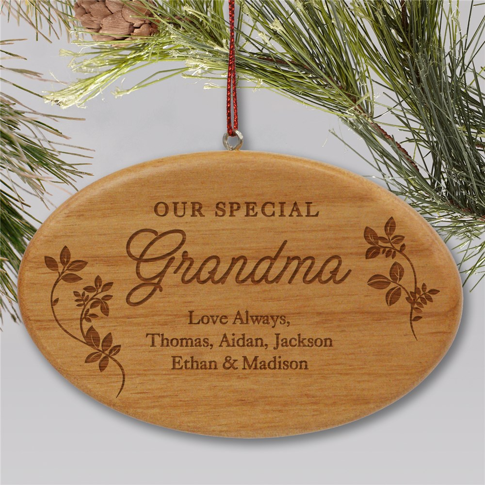 Engraved Special Family Wood Ornament | Personalized Family Ornaments