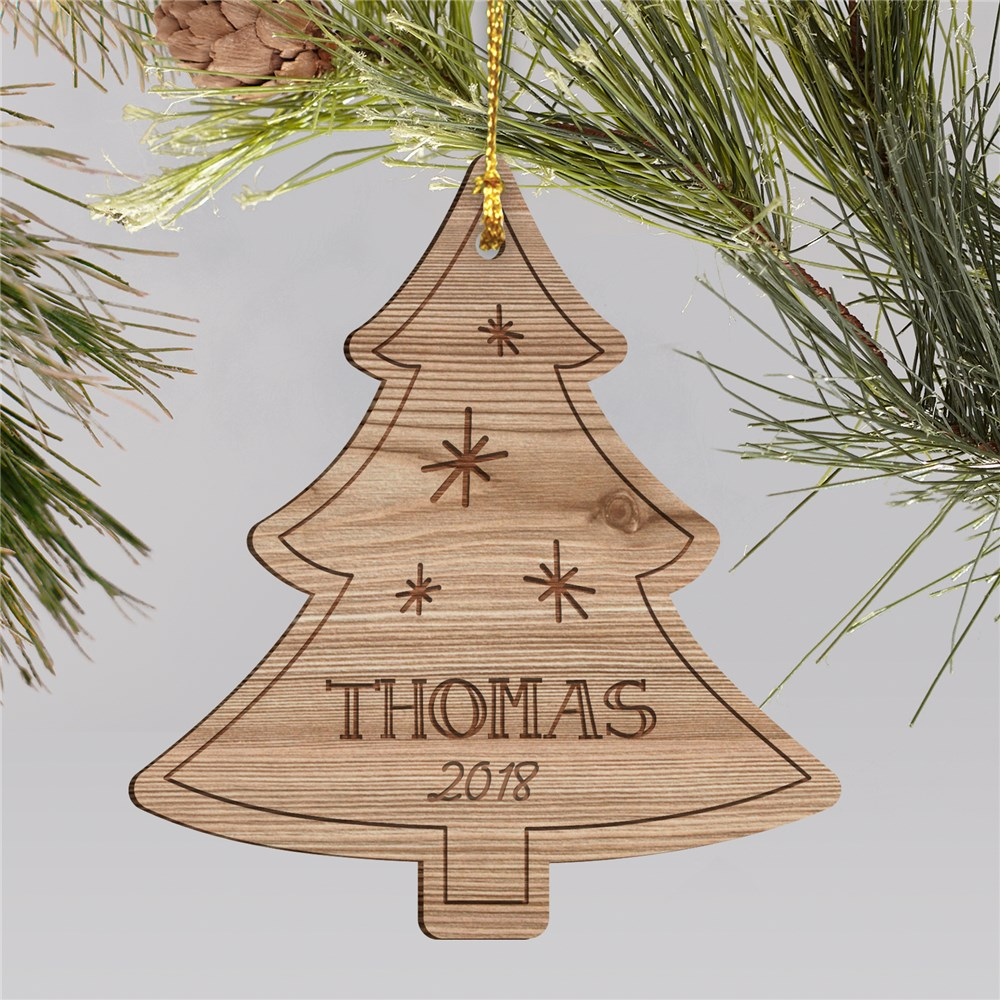 Personalized Christmas Tree Wooden Ornament | Personalized Ornament