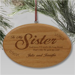 Personalized Sister Ornaments | Sister Christmas Ornaments