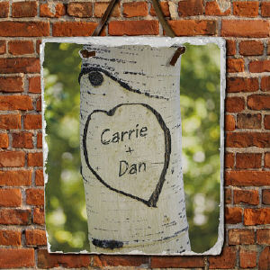 Sitting In A Tree Photo Slate Plaque | Personalized Welcome Signs