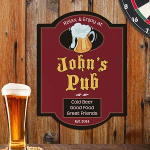 Personalized Pub Wall Sign