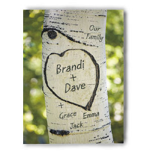 Our Family Tree Photo Canvas Wall Art