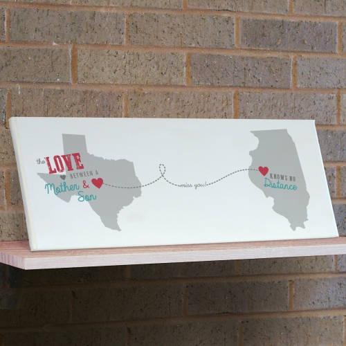 Personalized Long Distance Wall Canvas | Personalized Wall Art