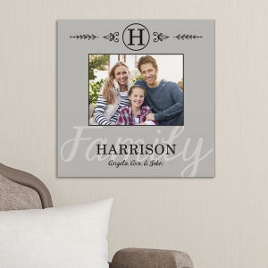 Family Photo Personalized Wall Canvas