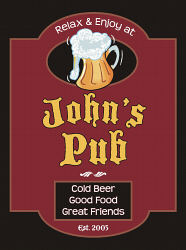 Personalized Dads Pub Wall Sign | Housewarming Gifts for Men