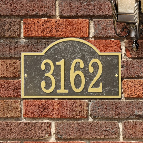 Arch House Number Plaque | Personalized Housewarming Gifts