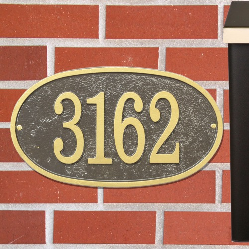 Persoanlized Oval House Number Plaque DFEO1X