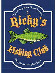 Fishing Club Personalized Wall Sign