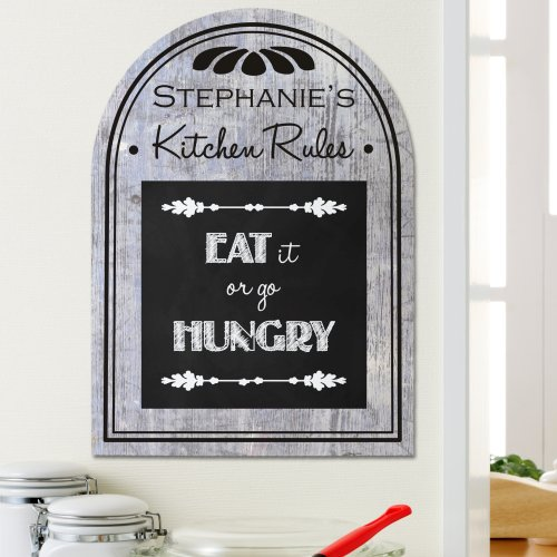 Personalized Kitchen Rules Wall Sign | Gifts For The Home