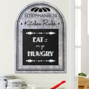 Personalized Kitchen Rules Wall Sign