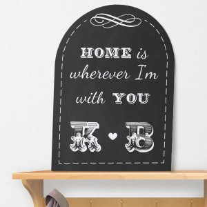 Personalized Couples Home Wall Sign