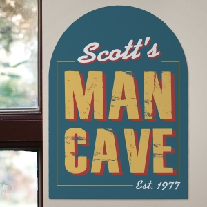 Rustic Custom Wall Sign | Personalized Man Cave Gifts