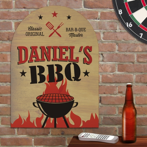 Barbeque Wall Sign | Personalized Wall Art