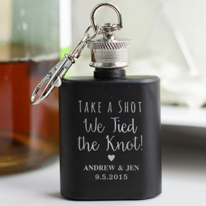 Engraved Wedding Mini Flask Favors