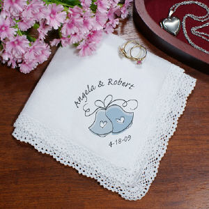 Wedding Bells Personalized Wedding Ladies Handkerchief