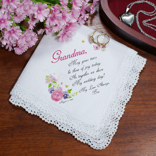 Tears of Joy Personalized Wedding Ladies Handkerchief