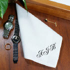 Any Initals Personalized Men's Handkerchief