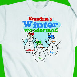 Personalized Winter Wonderland Sweatshirt