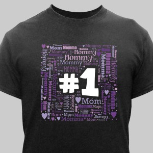 #1 Mom Word-Art T-Shirt