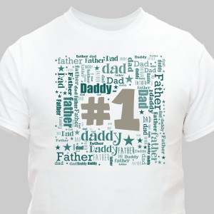 #1 Dad Word-Art T-Shirt | Personalized Shirts For Dad