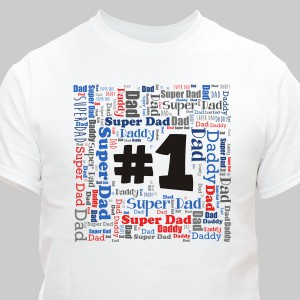 #1 Dad Word-Art T-shirt
