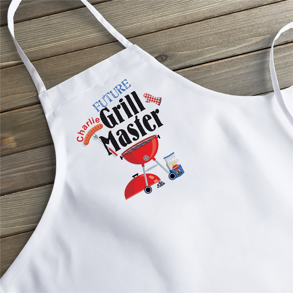 Future Grill Master Personalized Kids Kitchen Apron | Personalized Aprons