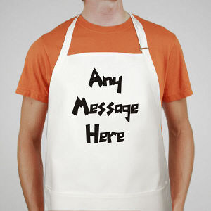 Funky Message Personalized Apron