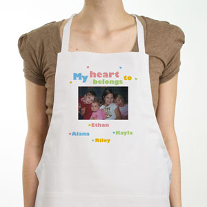 My Heart Personalized Photo Apron