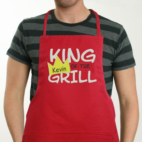 Personalized King Of The Grill Apron | BBQ Gifts For Dad