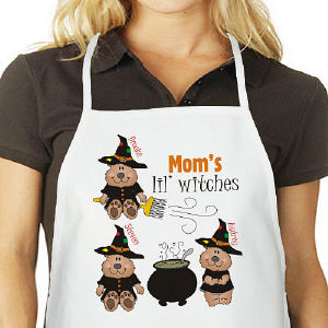 Lil Witches Personalized Halloween Apron