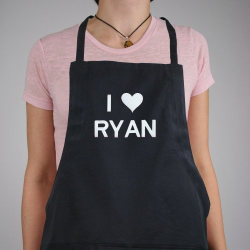 I Love You Red Apron | Personalized Aprons