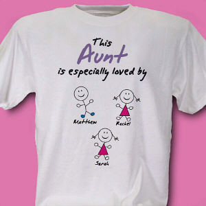 Especially Loved By Personalized Aunt T-shirt