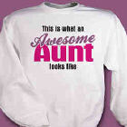Awesome Aunt Personalized Sweatshirt
