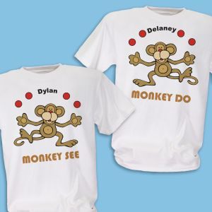 Just Monkey Around Twin Personalized Youth T-shirt
