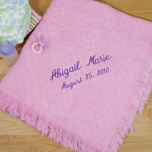 Personalized Baby Afghan | Personalized Baby Blankets