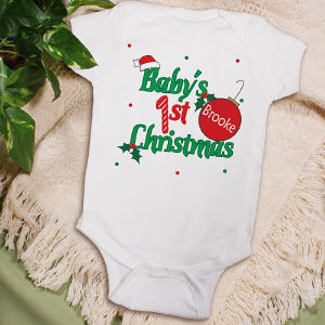 Personalized Baby's 1st Christmas Creeper