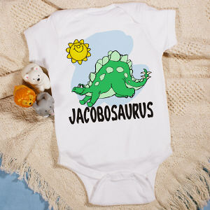 Nameosaurus Personalized Infant Creeper