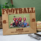 Football Wood Picture Frame
