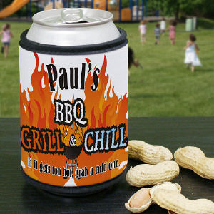 Custom Printed Grill & Chill Can Wrap Koozies