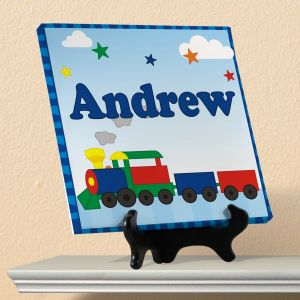 All Aboard Personalized Wall Canvas