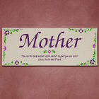 Mother Personalized Flower Sentiment Wall Canvas