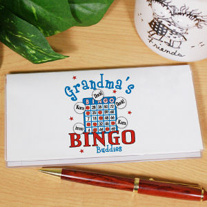 Bingo Buddies Personalized Checkbook Cover