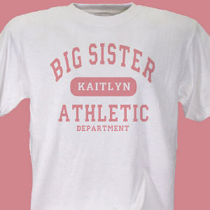 Big Sister Athletic Dept. Personalized Youth T-shirt
