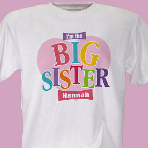 Big Sister Heart Personalized Youth T-shirt