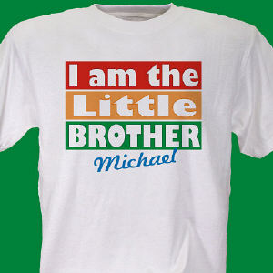 I am the Brother Personalized Youth T-shirt