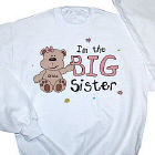 I am the Sister Teddy Bear Personalized Youth Sweatshirt