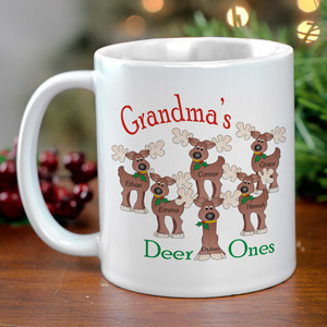 Deer Ones Personalized Coffee Mug | Personalized Christmas Mugs