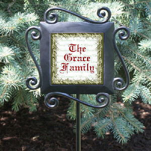 Custom Family Name Garden Stake